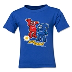 2002 FIFA World Cup Kaz & Nik Mascot Logo Toddler T-Shirt (Royal)