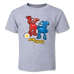 2002 FIFA World Cup Kaz & Nik Mascot Logo Toddler T-Shirt (Grey)