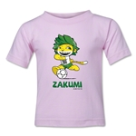 2010 FIFA World Cup Zakumi Mascot Logo Toddler T-Shirt (Pink)