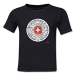 1954 FIFA World Cup Emblem Toddler T-Shirt (Black)