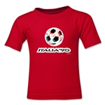 1990 FIFA World Cup Emblem Toddler T-Shirt (Red)