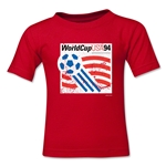 1994 FIFA World Cup Emblem Toddler T-Shirt (Red)