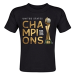 USA FIFA Women's World Cup Champions Toddler T-Shirt (Black)