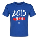 USA FIFA Women's World Cup Champions Toddler T-Shirt (Royal)