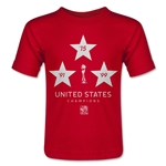 USA FIFA Women's World Cup Champions Toddler T-Shirt (Red)