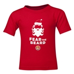 FC Santa Claus Fear the Beard Toddler T-Shirt (Red)