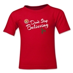 FC Santa Claus Don't Stop Believing Toddler T-Shirt (Red)