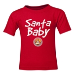 FC Santa Claus Santa Baby Toddler T-Shirt (Red)