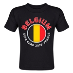 Belgium Euro 2016 Fashion Toddler T-Shirt (Black)