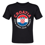 Croatia Euro 2016 Fashion Toddler T-Shirt (Black)