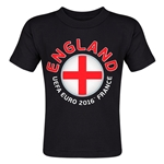 England Euro 2016 Fashion Toddler T-Shirt (Black)