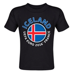 Iceland Euro 2016 Fashion Toddler T-Shirt (Black)