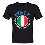 Italy Euro 2016 Fashion Toddler T-Shirt (Black)