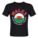 Wales Euro 2016 Fashion Toddler T-Shirt (Black)