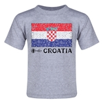 Croatia Euro 2016 Fashion Toddler T-Shirt (Grey)