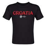 Croatia Euro 2016 Core Toddler T-Shirt (Black)