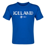 Iceland Euro 2016 Core Toddler T-Shirt (Royal)
