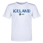 Iceland Euro 2016 Core Toddler T-Shirt (White)