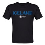 Iceland Euro 2016 Core Toddler T-Shirt (Black)
