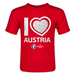 Austria Euro 2016 Heart Toddler T-Shirt (Red)