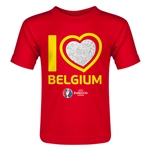 Belgium Euro 2016 Heart Toddler T-Shirt (Red)