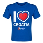 Croatia Euro 2016 Heart Toddler T-Shirt (Royal)