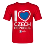Czech Republic Euro 2016 Heart Toddler T-Shirt (Red)