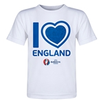 England Euro 2016 Heart Toddler T-Shirt (White)