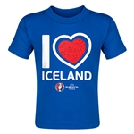 Iceland Euro 2016 Heart Toddler T-Shirt (Royal)