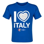 Italy Euro 2016 Heart Toddler T-Shirt (Royal)