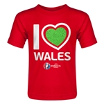 Wales Euro 2016 Heart Toddler T-Shirt (Red)