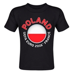 Poland Euro 2016 Fashion Toddler T-Shirt (Black)