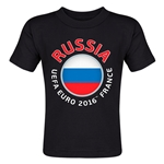 Russia Euro 2016 Fashion Toddler T-Shirt (Black)