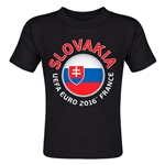 Slovakia Euro 2016 Fashion Toddler T-Shirt (Black)