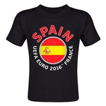 Spain Euro 2016 Fashion Toddler T-Shirt (Black)