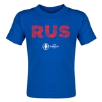 Russia Euro 2016 Elements Toddler T-Shirt (Royal)