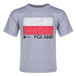 Poland Euro 2016 Fashion Toddler T-Shirt (Grey)