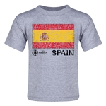 Spain Euro 2016 Fashion Toddler T-Shirt (Grey)