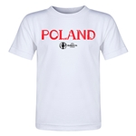 Poland Euro 2016 Core Toddler T-Shirt (White)