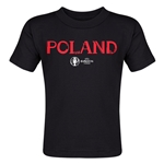 Poland Euro 2016 Core Toddler T-Shirt (Black)