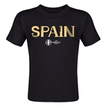 Spain Euro 2016 Core Toddler T-Shirt (Black)