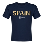 Spain Euro 2016 Core Toddler T-Shirt (Navy)