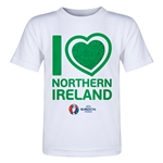 Northern Ireland Euro 2016 Heart Toddler T-Shirt (White)