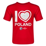 Poland Euro 2016 Heart Toddler T-Shirt (Red)
