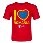 Romania Euro 2016 Heart Toddler T-Shirt (Red)
