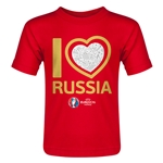 Russia Euro 2016 Heart Toddler T-Shirt (Red)