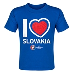 Slovakia Euro 2016 Heart Toddler T-Shirt (Royal)