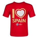 Spain Euro 2016 Heart Toddler T-Shirt (Red)