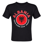 Albania Euro 2016 Fashion Toddler T-Shirt (Black)