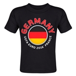 Germany Euro 2016 Fashion Toddler T-Shirt (Black)